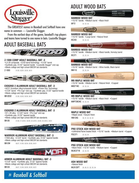 adult wood bats - Cummins Athletic Supply