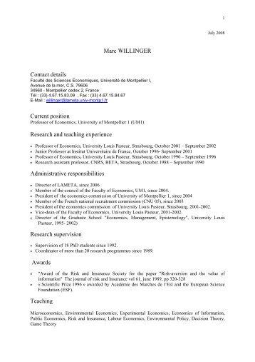 CV anglais 2008 - Lameta