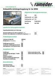 Einbauhilfe Anhängerkupplung für 3er BMW