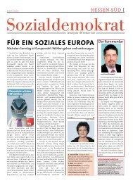 FüR EIn SOZIALES EUROPA - SPD Hessen Süd