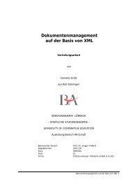 Dokumentenmanagement auf der Basis von XML