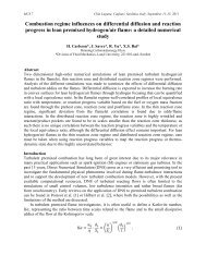Combustion regime influences on differential diffusion and reaction ...