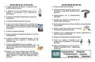 FOLLETO DEBERES Y DERECHOS PERIODISTA - Hospital Militar