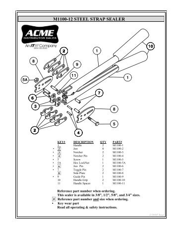M1100-12 STEEL STRAP SEALER - Acme Packaging