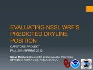 EVALUATING NSSL WRF'S PREDICTED DRYLINE POSITION