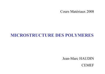 DANS LES POLYMERES-Structure moléculaire - mms2