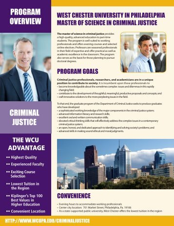Master of Criminal Justice - West Chester University