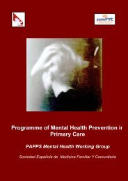 Programme of Mental Health Prevention in Primary Care ... - papps