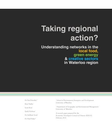 2012 Vinodrai et al EDCO Taking Regional Action - Faculty of ...