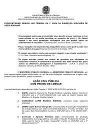 ação civil pública com pedido de liminar - Mapa de Conflitos ...