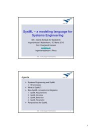 1 SysML - a modeling language for Systems Engineering