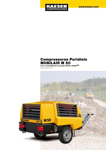 Compressores Portáteis MOBILAIR M 50 - Kaeser