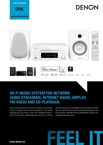 ceol wi-fi music system for network audio streaming ... - Denon