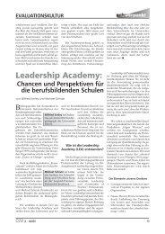 Chancen und Perspektiven für die berufsbildenden Schulen