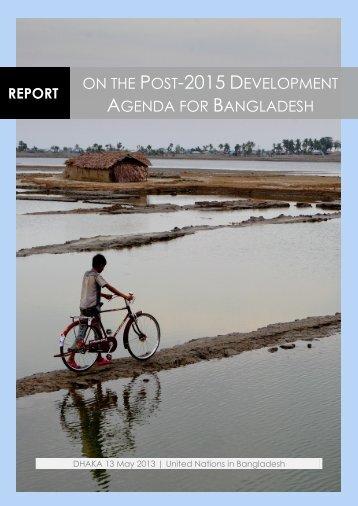 Report on the Post-2015 Development Agenda for Bangladesh