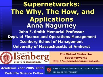 The Virtual Center for Supernetworks