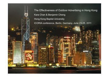 The Effectiveness of Outdoor Advertising in Hong Kong