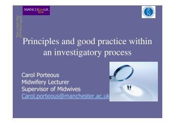 Principles and good practice within an ... - NHS North West
