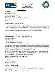 Concert Gala Concert with Angela Gheorghiu Concert - Evento Italiano