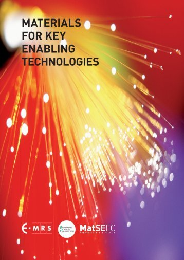 materials for key enabling technologies - European Science ...