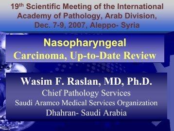 Nasopahryengeal ca update - International Academy of Pathology