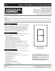 onset two-wire, low-voltage dimmer - Philips Lighting Controls