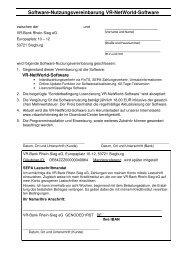 Download Lizenzvereinbarung - VR-Bank Rhein-Sieg eG