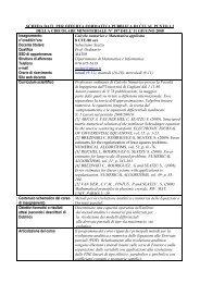 Calcolo numerico e matematica applicata - Ingegneria per l ...