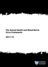 The Sexual Health and Blood Borne Virus Framework - Scottish ...