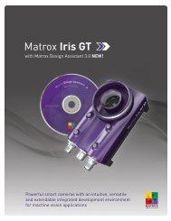 Smart Camera - Matrox Iris GT