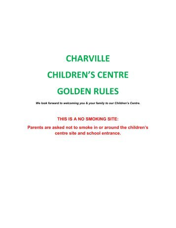 charville children's centre golden rules - Charville Primary School
