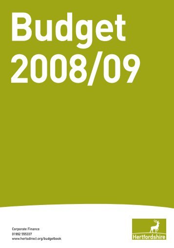 Budget 2008/09 - Hertfordshire County Council