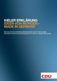kieler erklärung ideen von morgen - CDU Kreisverband Ludwigsburg