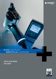 TOOLS PLUS IDEAS2011/2012 - Komet