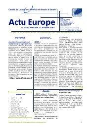 Actu Euro p e CLCBE - EVTA