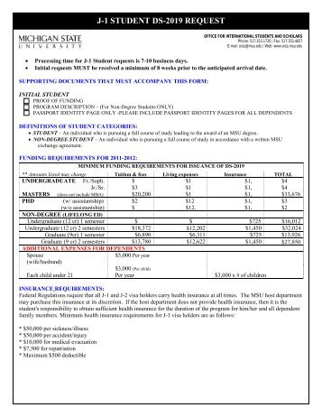 Request Form for I-20 or DS-2019 - Graduate School - University of ...