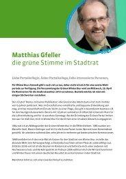 Matthias Gfeller die grüne Stimme im Stadtrat - Grüne Winterthur