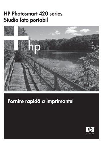 HP Photosmart 420 series Studio foto portabil ... - Hewlett Packard