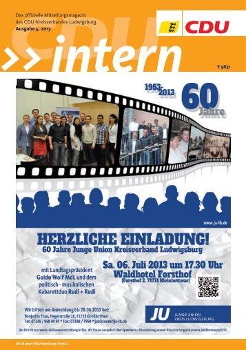 CDU Intern Ausgabe Mai 2013 - CDU Kreisverband Ludwigsburg