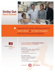 Strike Out - St. Paul's Hospital Foundation