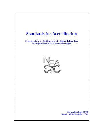 Standards for Accreditation - Commission on Institutions of Higher ...