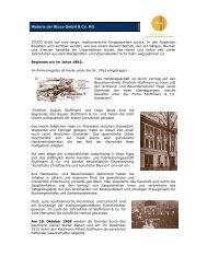 Historie der Stuco GmbH & Co. KG