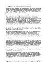 Erfahrungsbericht – Wintersemester 2004/2005 KARLSTAD Ich ...