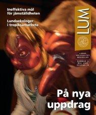 LUM nr 5 - 27 maj - Humanekologi Lunds universitet