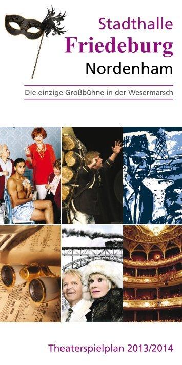 Spielplan öffnen (PDF-Datei)! - Stadthalle ''Friedeburg'' Nordenham