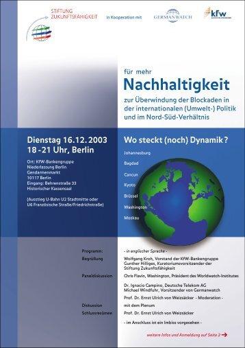 Download der Einladung - Stiftung Zukunftsfähigkeit