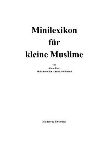 Minilexikon für kleine Muslime - Way to Allah