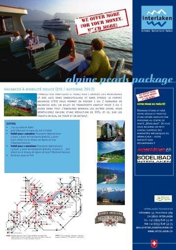 vacances à mobilité douce (été / automne 2012) - Alpine Pearls