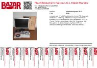 FlachBildschirm flatron LG L1942t Monitor - Bazar.at