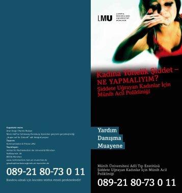 Kadına Yönelik Şiddet – - Institut für Rechtsmedizin